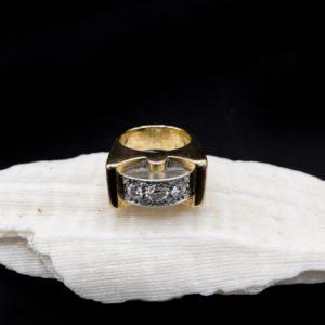 Bague en or 18K et diamants, vers 1950