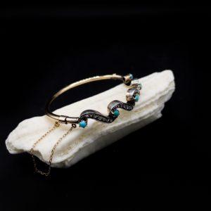 Bracelet Belle-époque, Or 18K et argent