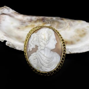 Broche/camée agate Napoléon III