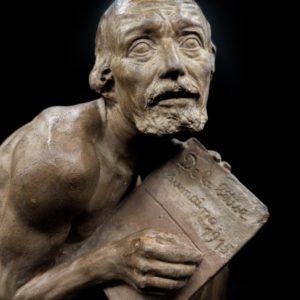 """Sculpture """"La bêtise humaine"""" par Fernand GYSEN, début 20ème siècle"""