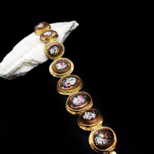 Bracelet en or 18k et micro-mosaïque, Napoléon III
