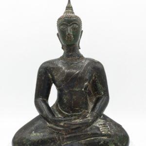 Bronze de buddha en méditation, période Ayutthaya (15/16 ème siècle)