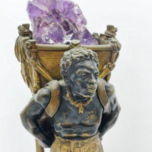 """Bronze de Vienne peint à froid, fin 19ème siècle, """"La cueillette du tabac"""""""