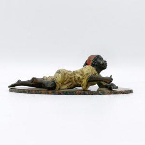Bronze de vienne Jeune arabe peint à froid