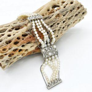 """Bracelet perle """"Belle époque"""" fin 19ème siècle"""
