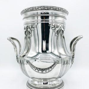 Seau à champagne en argent massif, fin 19ème siècle